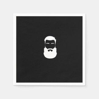White Beard Paper Napkins