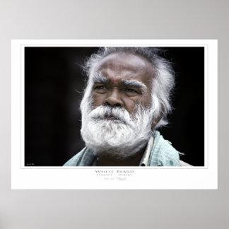 White Beard Print
