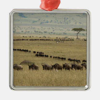 White-bearded Wildebeest or Gnu, Connochaetes 2 Metal Ornament