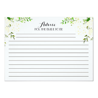 White Beautiful Floral Advice Cards