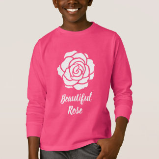 White Beautiful Rose Long Sleeve T-Shirt (Child)