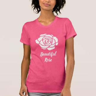 White Beautiful Rose T-Shirt