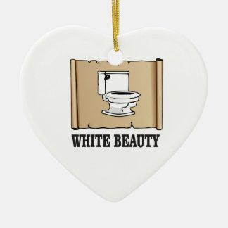 white beauty toilet ceramic ornament