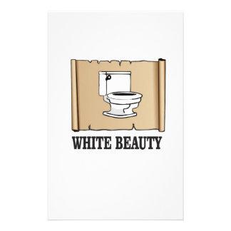white beauty toilet customized stationery