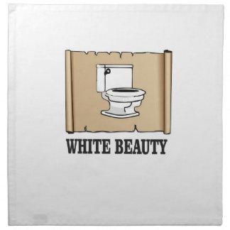 white beauty toilet napkin