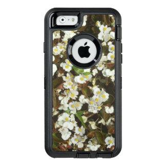 White Begonia Flower OtterBox Defender iPhone Case