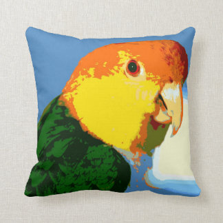 White Bellied Caique Parrot Cushion