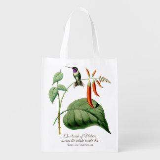 White Bellied Woodstar Hummingbird Grocery Bag
