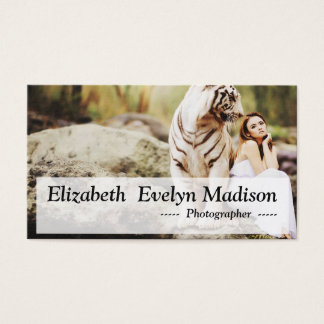 white bengal tiger business card