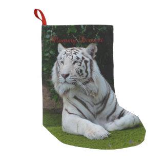 White Bengal Tiger Small Christmas Stocking