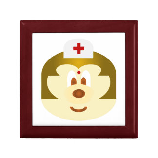 White Bg & Nurse 鮑 鮑 Mahogany Gift Box