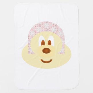White Bg & Ski Hat 鲍 鲍 Baby Blanket