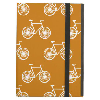 White Bicycle, Cycling Pattern; Burnt Orange iPad Air Cover