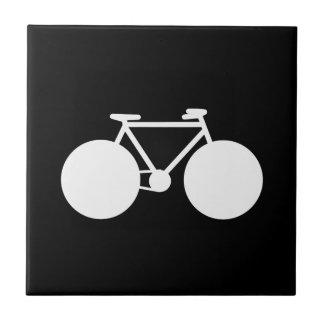 white bicycle modern design tile