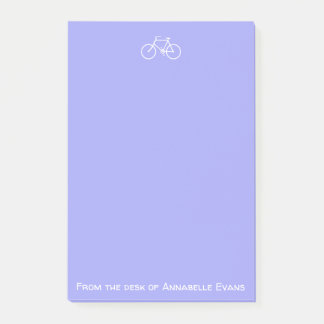 White Bicycle on Violet Post-it Notes