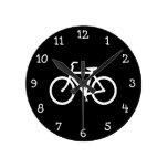 White Bike Route Clocks