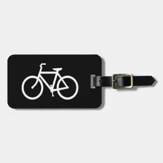 White Bike Route Luggage Tags