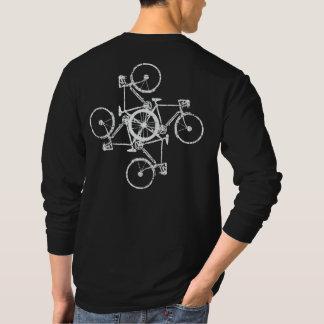 white bikes . cycling / biking black T-Shirt