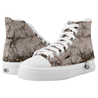 White Birch Bark Printed Shoes