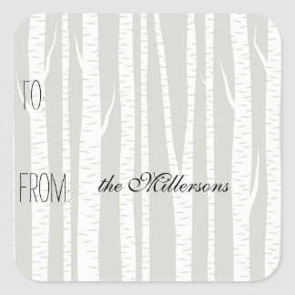 White Birch Trees Gift Tag