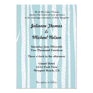 "White Birch Trees 5"" X 7"" Invitation Card"