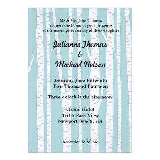 White Birch Trees Personalized Invitations