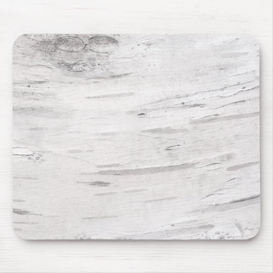 White Birch Wood Rustic Country Farmhouse Barn Mouse Pad