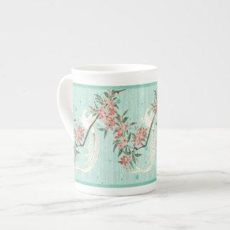 White Bird - Cherry Blossoms (Bone China Mug) Tea Cup
