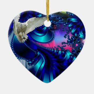White Bird.jpg Ceramic Heart Decoration