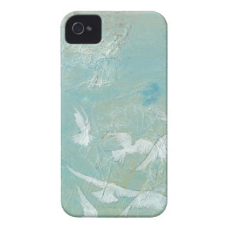 White Birds Flying Through Blue Sky iPhone 4 Cover