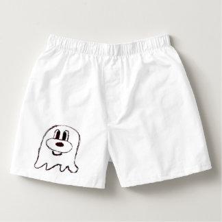 White & Black 鬼 鬼 Short Boxers