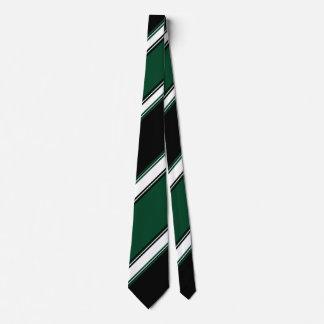 White Black and Evergreen II Tie