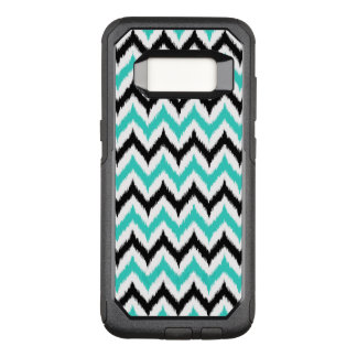 White, Black and Turquoise Zigzag Ikat Pattern OtterBox Commuter Samsung Galaxy S8 Case