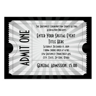 ticket business card template .