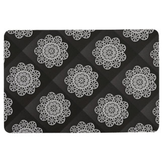 White Black Lacey 4Gracey Floor Mat
