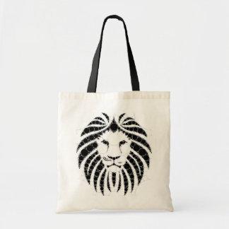 White/black Lion Budget. Tote Budget Tote Bag