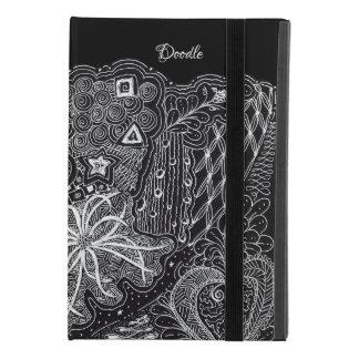 White/Black Random Doodle Art Fun Unique iPad Mini 4 Case