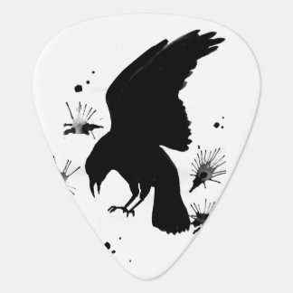 White Black raven nevermore Plectrum