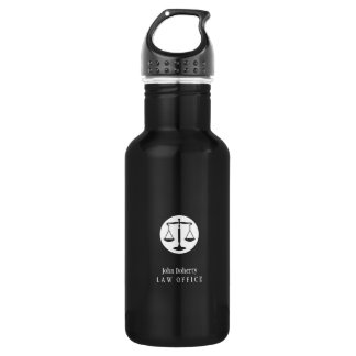White Black Scales of Justice | Lawyer 532 Ml Water Bottle