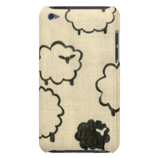 White & Black Sheep on Cream Background iPod Touch Covers