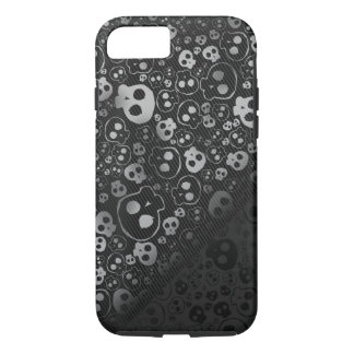 white black skull head iPhone 7 case
