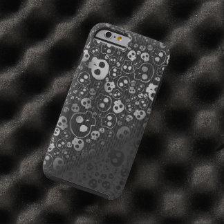 white black skull head tough iPhone 6 case