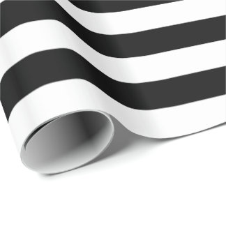White/Black Stripe Wrapping Paper