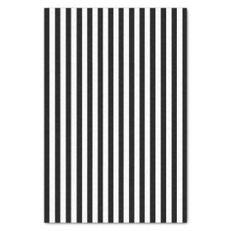 White & Black Striped Tissue Papers Tissue Paper