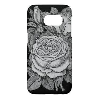 White & Black Vintage Floral Phone and Tablet Case