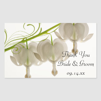 White Bleeding Hearts Wedding Thank You Favor Tags