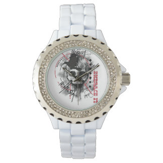 White Bling RipToRn Logo Watch