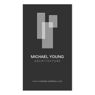 WHITE BLOCKS LOGO for Architects Builders Design Business Cards