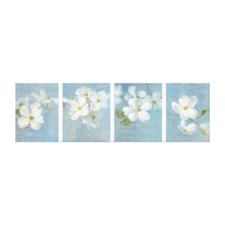 White Blossom Panel Gallery Wrap Canvas
