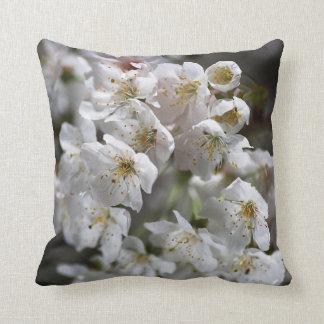 White Blossom Spring Delight Pillow